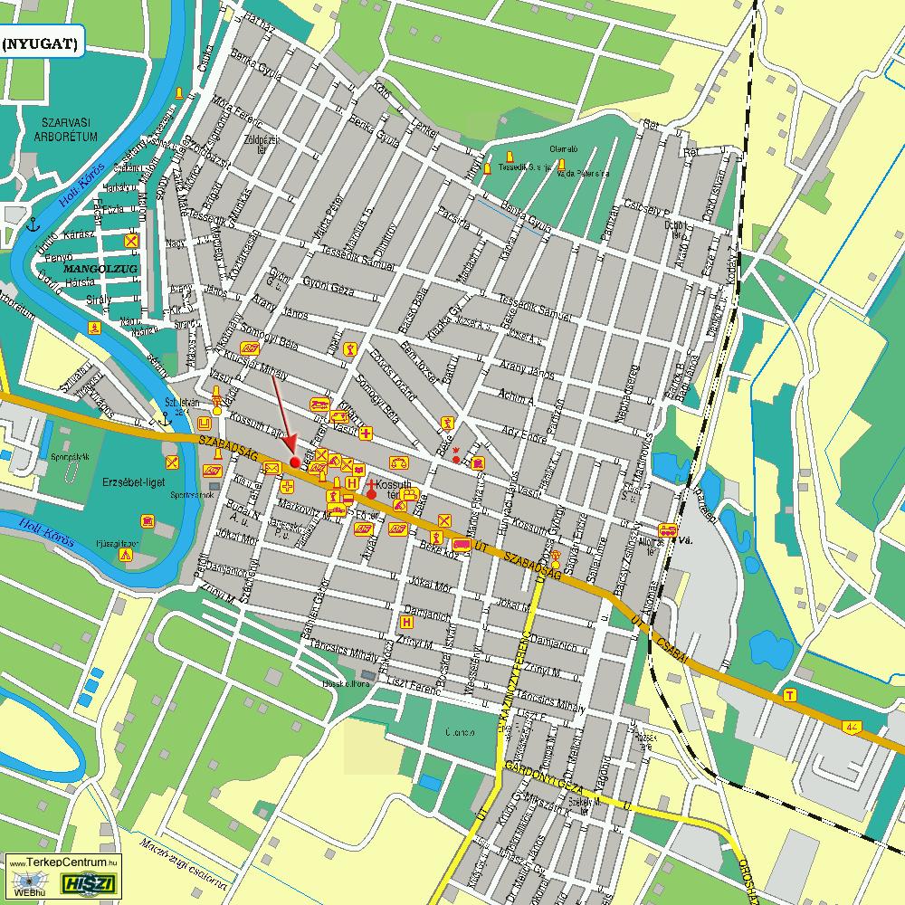 szarvas térkép Szarvas   Bőrgyógyász Szolnok   Dr. Szabó AndrásBőrgyógyász  szarvas térkép
